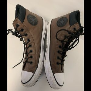 Converse  Leather Brown  Hi Tops New Condition